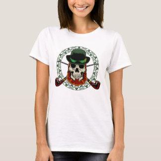 Leprechaun Skull Ladies Fitted Babydoll T-Shirt