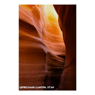 Leprechaun Slot Canyon Poster