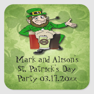 Leprechaun St Paddy s Day Party Favor stickers