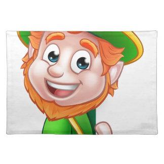Leprechaun St Patricks Day Cartoon Mascot Placemat