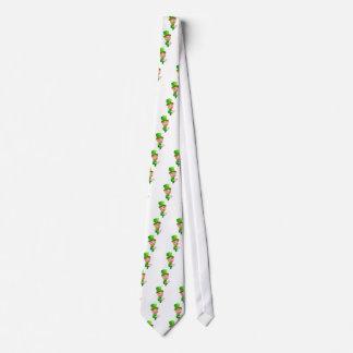 Leprechaun St Patricks Day Cartoon Mascot Pointing Tie
