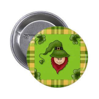 Leprechaun St. Patrick's Day Pin Button