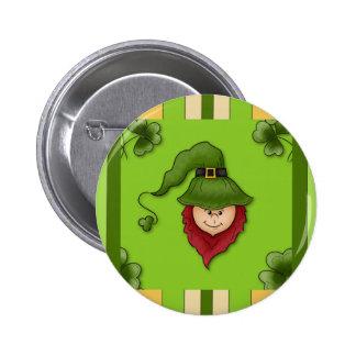 Leprechaun Stripes St. Patrick's Day Pin Button