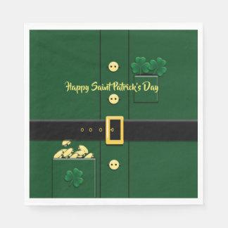 Leprechaun Suit St Patricks Day Party P Napkin Disposable Serviette