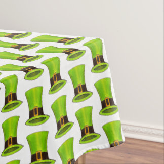 Leprechaun Top Hat Lucky Green St. Patrick's Day Tablecloth