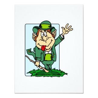 Leprechaun Waving Personalized Invitation