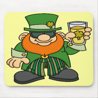 Leprechaun with Beer Mousepad