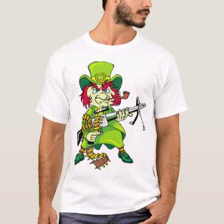 Leprechaun With Machine Gun T-Shirt