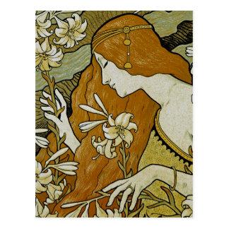 L'Ermitage Art Nouveau Postcard
