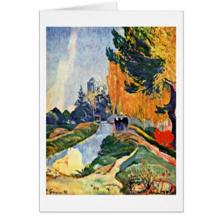 Les Alyscamps By Eugene Henri Paul Gauguin Card