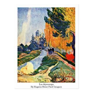 Les Alyscamps By Eugene Henri Paul Gauguin Postcard