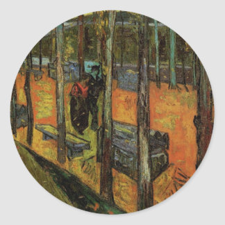 Les Alyscamps (Cemetery) by Vincent van Gogh Round Stickers