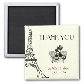 Les Aristochats Noirs - french passion 2 Square Magnet