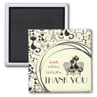 Les Aristochats Noirs - french passion Square Magnet
