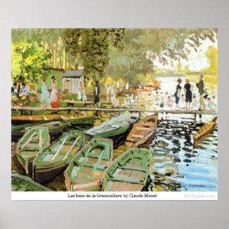Les bain de la Grenouillere by Claude Monet Poster