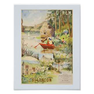 Les Brenets Switzerland and Besancon France Poster