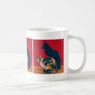 Les Chats by Theophile Steinlen Coffee Mug