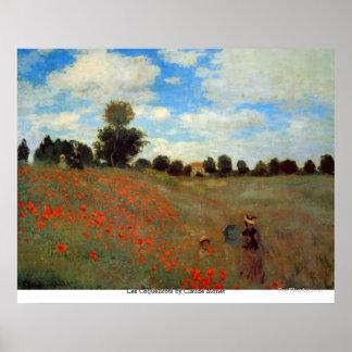 Les Coquelicots by Claude Monet Poster