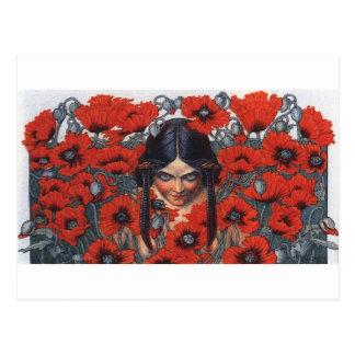 Les Fleurs du Mal - Destruction Postcard