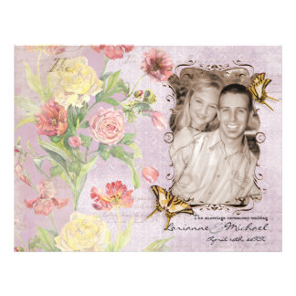 Les Fleurs Peony Rose Tulip Floral Flowers Wedding 21.5 Cm X 28 Cm Flyer