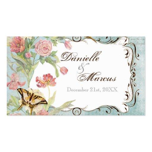 Les Fleurs Peony Rose Tulip Floral Flowers Wedding Business Card Template