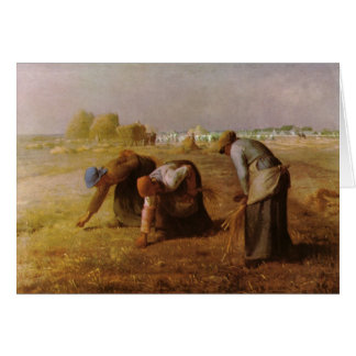 Les Glaneuses 1857 by Jean-Francois Millet Card