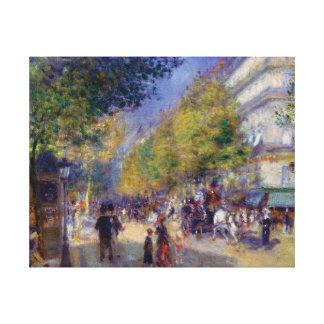 Les Grands Boulevards by Renoir Canvas Print