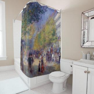Les Grands Boulevards by Renoir Shower Curtain