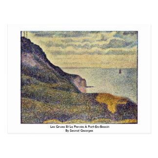 Les Grues Et La Percée à Port-En-Bessin Postcard
