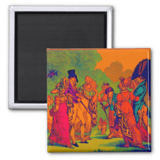 les invisibles 1810 fashion cartoon square magnet