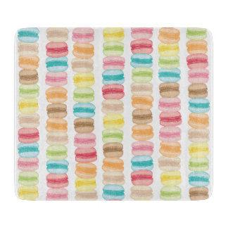 Les Macarons Glass Cutting Board