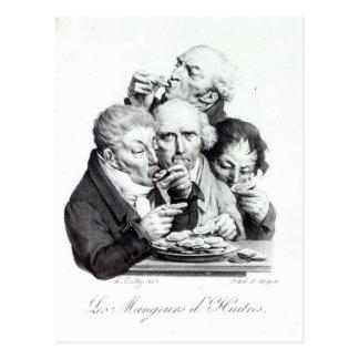Les Mangeurs d'Huitres, 1825 Postcard