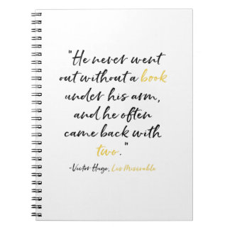 Les Miserables Book Quote Notebook