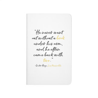 Les Miserables Book Quote Pocket Notebook