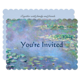 Les Nympheas Water Lilies Monet Fine Art Wedding Card
