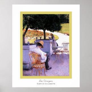 Les Orangers~ Gustave Caillebotte Poster