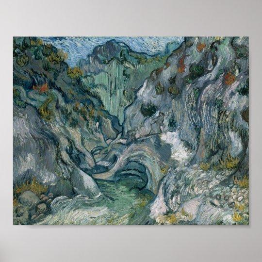 Les Peiroulets Ravine Van Gogh Fine Art Poster