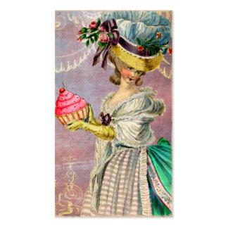 Les Petits Gateaux Marie Antoinette Cupcake & Bird Business Card