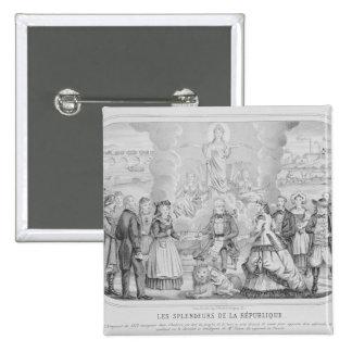 Les Splendeurs de la Republique' , 1872 15 Cm Square Badge