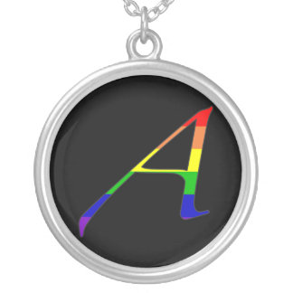 "Lesbian and Gay Pride ""Scarlet"" Letter A Necklace"