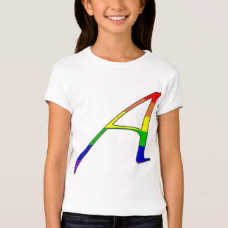 "Lesbian and Gay Pride ""Scarlet"" Letter A T Shirt"
