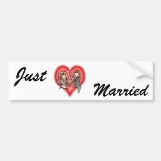 Lesbian Bride & Groom Bumper Stickers