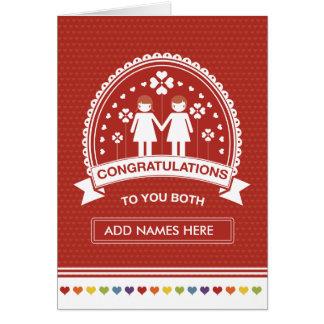 Lesbian Couple   Congratulations Card
