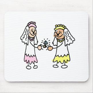Lesbian Cute Brides Mouse Pad