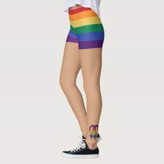 Lesbian Female Gender Symbol Rainbow Leggings
