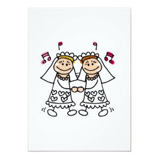 Lesbian First Dance 13 Cm X 18 Cm Invitation Card