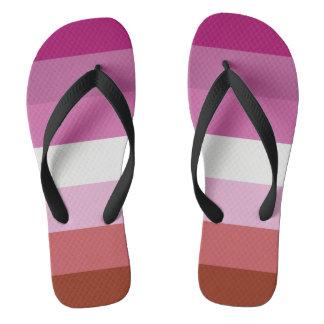 Lesbian Flag Shoes Thongs