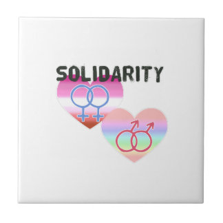 Lesbian Gay Solidarity Ceramic Tile