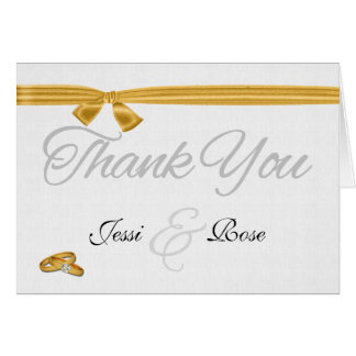 Lesbian / Gay Wedding Thank You Two Brides Card