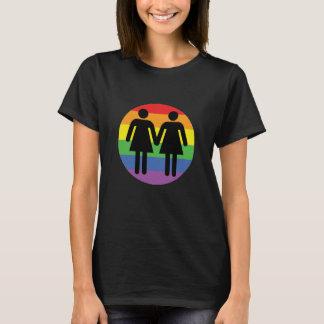 Lesbian Love Rainbow Pride LGBT T-Shirt